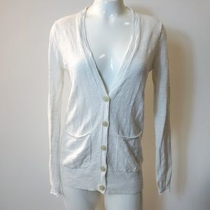 Madewell White Cardigan Button Long Sleeves XS